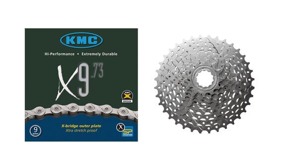Shimano Alivio CS-HG400 Kassette 11-32 & KMC X-9-73 Kette 9-fach Bundle